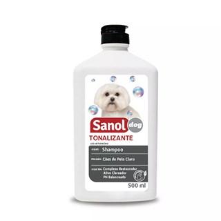 Shampoo Sanol Dog Tonalizante De Pelos Claros Para Cães e Gatos