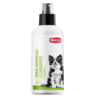 Spray Antisséptico Ibasa Antipulgas e Carrapatos Para Cães