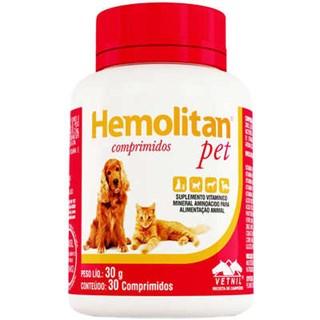 Suplemento Vetnil Hemolitan Pet Comprimidos