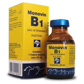 Suplemento Vitamínico Bravet Monovin B1 Para Cães. Para Gatos. Potros. Bezerros. Caprinos. Suínos. Bovinos e Equinos