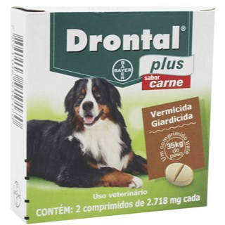 Vermífugo Bayer Drontal Plus Sabor Carne Cães 35 Kg