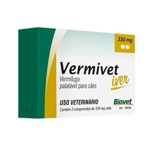 Vermífugo Biovet Vermivet Iver 330mg para Cães