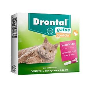 Vermífugo Drontal SpotOn para Gatos de 5kg a 8kg